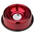 Platinum Pets® 16oz Embossed Candy Apple Red Dog Bowl