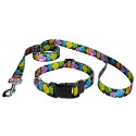 Black Valentine's Candy Deluxe Dog Collar & Leash