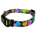 Black Valentine's Candy Deluxe Dog Collar & Leash - Secondary Angle