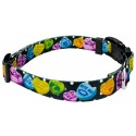Black Valentine's Candy Deluxe Dog Collar & Leash - Third Angle