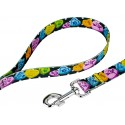 Black Valentine's Candy Deluxe Dog Collar & Leash - Leash View
