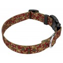 Gingerbread Deluxe Dog Collar & Leash - Third Angle