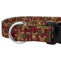 Gingerbread Deluxe Dog Collar & Leash - Closeup