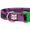 Just Witchy Things Deluxe Dog Collar & Leash - Closeup