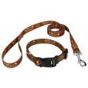 Merry Christmas Deluxe Dog Collar & Leash