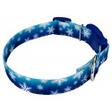 Winter Wonderland Deluxe Dog Collar & Leash - Third Angle