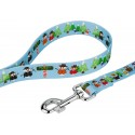 Snowman Party Deluxe Dog Collar & Leash - Leash View