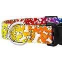 Trippy Dggo Deluxe Dog Collar & Leash - Closeup