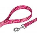 Deluxe Pink Bone Camo Reflective Dog Collar & Leash - Secondary Angle