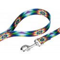 Deluxe Tie Dye Flowers Reflective Dog Collar & Leash - Secondary