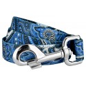 Blue Paisley Dog Leash
