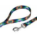 Tie Dye Flowers Dog Leash - Secondary Angle