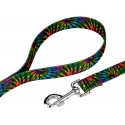 Tie Dye Stripes Dog Leash - Secondary Angle