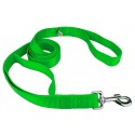 Hot Green - 4ft By 1 Inch Heavyduty Doublehandle Nylon Leash