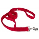 Red - 4ft By 1 Inch Heavyduty Doublehandle Nylon Leash