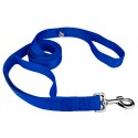 Royal Blue - 4ft By 1 Inch Heavyduty Doublehandle Nylon Leash