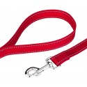 Deluxe Red Reflective Nylon Dog Collar & Leash - Leach View