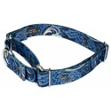 Blue Paisley Martingale Dog Collar & Leash - Secondary Angle