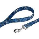 Blue Paisley Martingale Dog Collar & Leash - Leash View