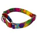 Paint Splatter Martingale Dog Collar & Leash - Secondary Angle