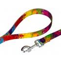 Paint Splatter Martingale Dog Collar & Leash - Leash View