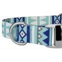 Snowy Pines Premium Dog Collar & Leash - Closeup