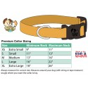 Deluxe Watercolor Butterflies Dog Collar - Sizing Chart