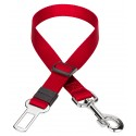 Nylon Car Safety Dog Belt - Red
