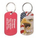 Military Dog Tag United Eagle Design