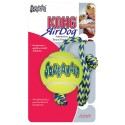 KONG® Airdog Squeakair Ball with Rope - Medium