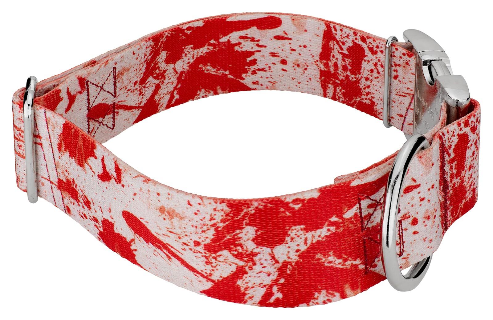 Buy 1 1/2 Inch Premium Blood Spatter Dog Collar Online