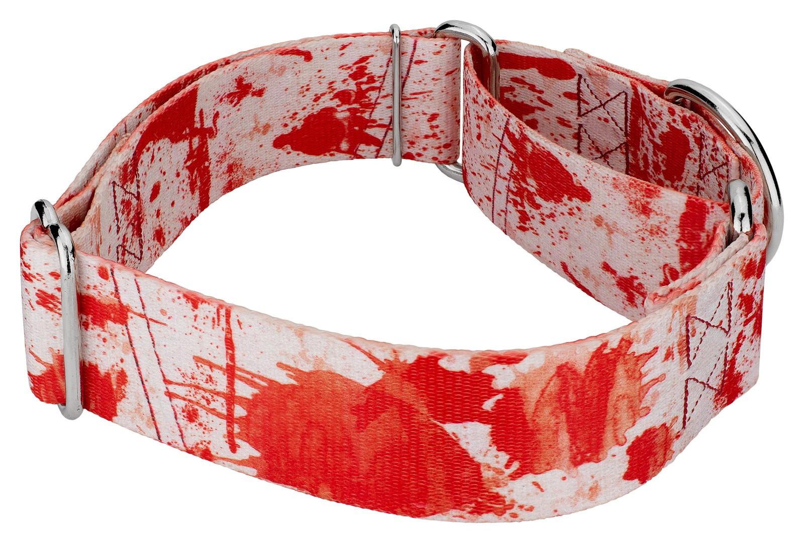 Buy 1 1/2 Inch Blood Spatter Martingale Dog Collar Online