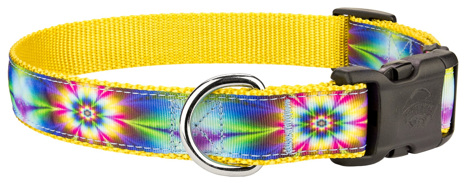 Buy deluxe tie dye flowers ribbon dog collar online for Order tie dye roses online