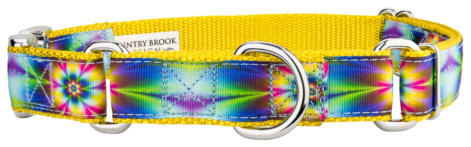 buy tie dye flowers ribbon martingale with premium buckle