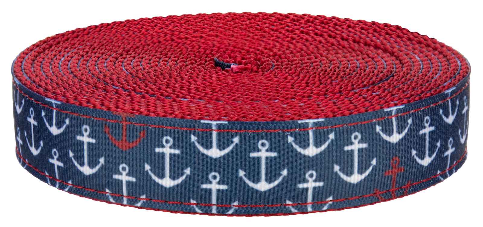 Country Brook Design® 1 Inch Red Hawaiian Polyester Webbing 5 Yards